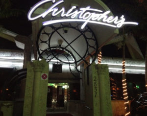 Christopher's nightclub with DJ Patrick Saccoccia
