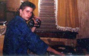 DJ Patrick Saccoccia as a teenager ...his first DJ picture